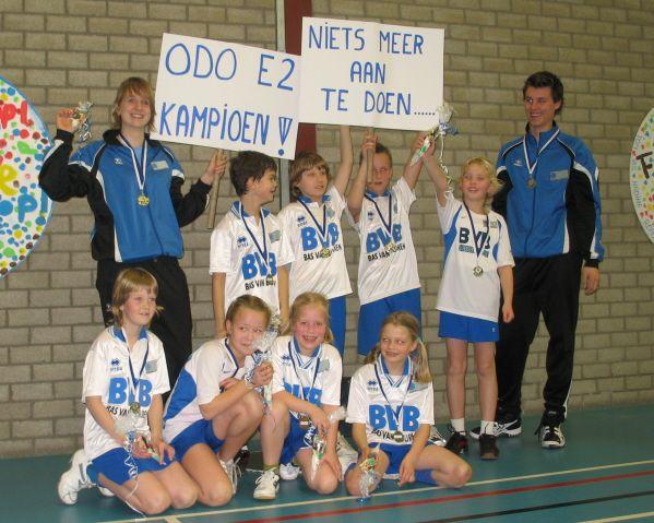 ODO E2 - Kampioen zaal 2007 - 2008