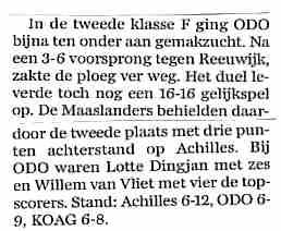 Reeuwijk - ODO in AD Westland